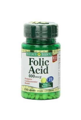 Nature's Bounty Folic Acid 400 Mcg
