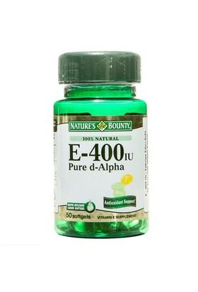 S Bounty Vitamin E-400 Iu 50Softjel (%100 Natural)