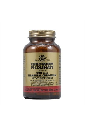 Solgar Chromium Picolinate 200Mcg 90 Kapsül