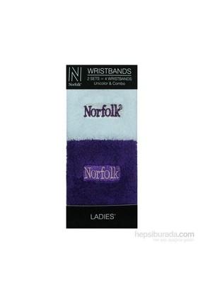 Norfolk Kadın 2'Li Bileklik Beyaz Mor