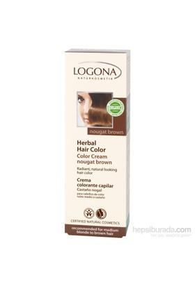 Logona Açık Kumral & Kahve Renkli Saçlar İçin Fındık Rengi Bitkisel Krem Boya - Nougat Brown