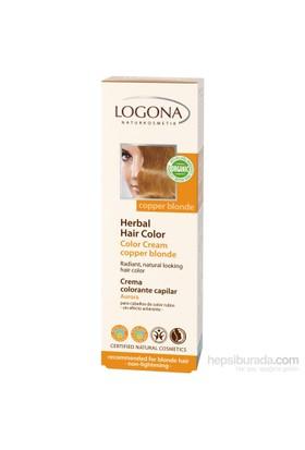 Logona Sarı Saçlar İçin Bakır-Sarı Bitkisel Krem Boya - Copper Blonde