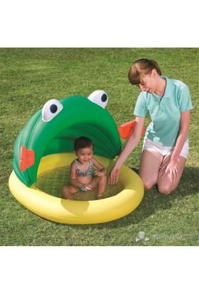 Bestway Üstü Kurbağa Figürlü Yarım Gölgelikli Çocuk Havuzu - 52162 ( 119 cm x 109 cm x 74 cm )