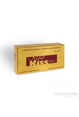 Silky Kiss Gold Yüzeyli Prezervatif 12 Adet