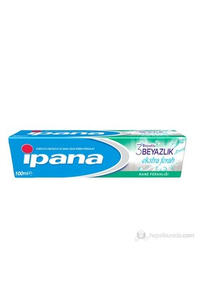 İpana Diş Macunu 3 Boyutlu Beyazlık Ekstra Ferah Nane Ferahlığı 100 ml