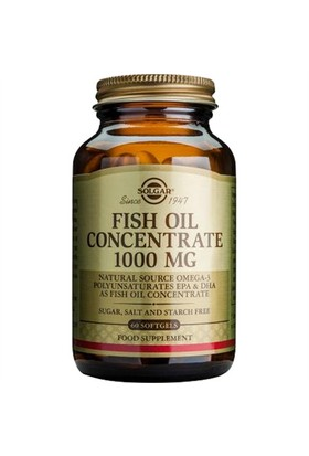 Solgar Fish Oil Concentrate 1000Mg 60 Kapsül