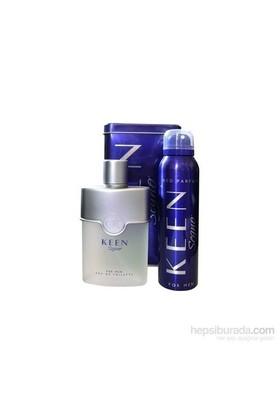Keen Segno Edt 100Ml Erkek Parfüm + Deodorant Parfüm Seti