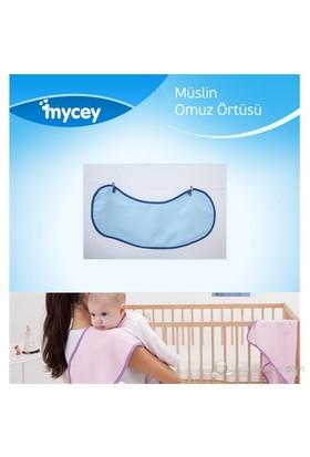 Mycey Müslin Kumaş Omuz Örtüsü / Mavi