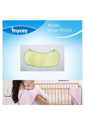 Mycey Müslin Kumaş Omuz Örtüsü / Yeşil