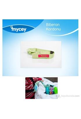 MYCey Biberon Kordonu / Yeşil Puantiyeli