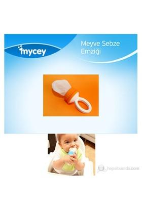 Mycey MyFeeder Güvenli Meyve Sebze Emziği / Turuncu