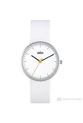 Braun Deri Kayışlı Klasik Kadın Kol Saati Beyaz - Bn0021whwhl