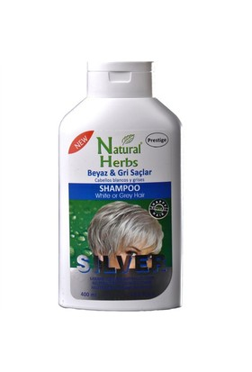 Natural Herbs Silver Shampoo Gri Ve Beyaz Saç Şampuan 400 Ml
