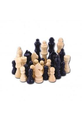 Star Oyun Ahşap Satranç Taşları Turnuva Boyu 105 Mm