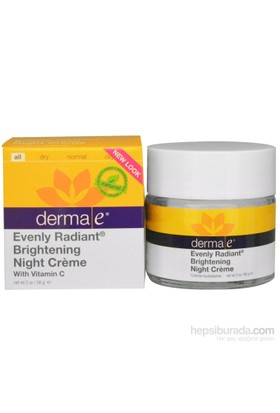 Derma E Evenly Radiant Night Cream 56Gr Gece Bakım