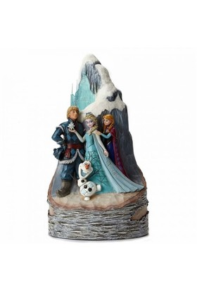 Disney Traditions Enesco Carved By Heart Frozen Elsa Anna Olaf Cristof Diorama