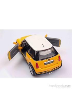 Kırmızı Mini Cooper S 1/28 Çek Bırak Die-Cast Model Araç