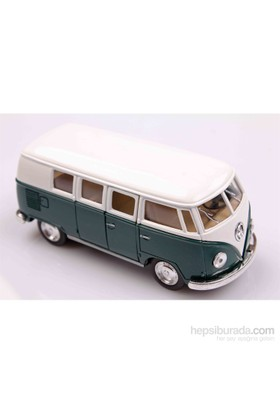 Yeşil 1962 Volkswagen Classical Bus 1/32 Çek Bırak Die-Cast Model Araç