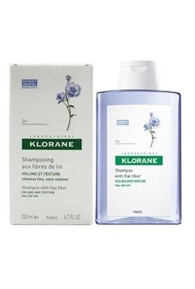KLORANE Shampooing fibres de lin 200 ml - Keten lifi içeren şampuan (ince telli, hacimsiz saçlar)