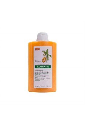 KLORANE Shampooing mangue 400 ml - Mango ekstreli şampuan (Kuru ve yıpranmış saçlar)