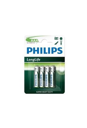 Philips R03l4b/97 Longlife İnce Aaa 4Lü Pil