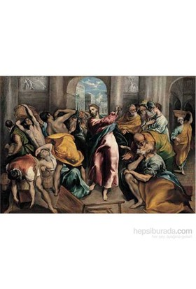 Christ Driving The Traders From, El Greco (1500 Parça Puzzle)