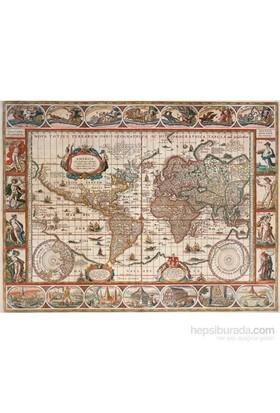 1650 Yılı Dünya Haritası (2000 Parça Puzzle)
