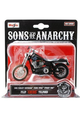 Maisto Sons Of Anarchy 2006 Harley Davidson Chıbs 1:18 Model Motosiklet