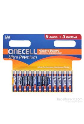 Onecell Ultra Premıum Alkalin Aaa Boy Pil 9+3