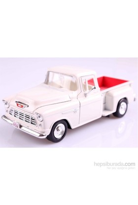 Motormax 1:24 1955 Chevy 5100 Stepside -Beyaz Model Araba