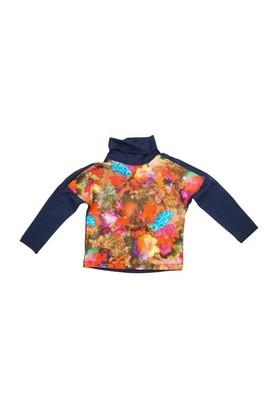 Zeylandkız Çocuk Lacivert T.Shirt Yarim Balikci K-42Z504cdp7