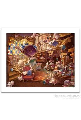 Pintoo Alıce Harikalar Diyarında - Gizemli Kütüphane - 500 Parça Puzzle