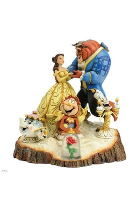 Disney Traditions Enesco Tale As Old As Time Carved By Heart Beauty & The Beast