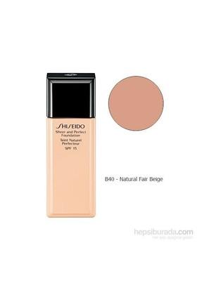 Shiseido Sheer And Perfect Foundation B40 30 Ml