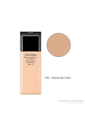 Shiseido Sheer And Perfect Foundation O40 30 Ml