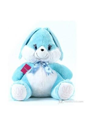 Mavi Renkli Peluş Tavşan 60 cm