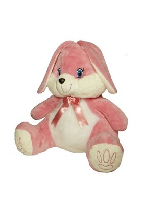 Selay Pembe Renkli Tavşan Peluş 80 cm