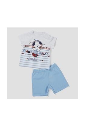Zeyland Erkek Çocuk Mavi T-Shirt-Şort Takım - K-61H1206