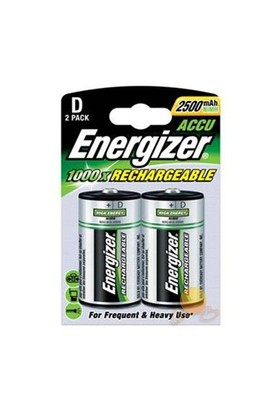 Energizer (E10-8757) Şarjlı 2500 Mah D Tipi Pil 2Li Blister