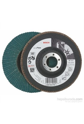 Bosch - Best Serisi Inox (Paslanmaz Çelik) İçin Flap Zımpara Diski - 125 Mm, 22,23, 80 Kum