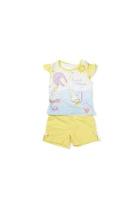 Zeyland Kız Çocuk Sarı T-Shirt-Şort Takım - K-61H2410