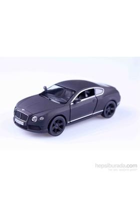 Mat Siyah Bentley Continental Gt 1/32 Çek Bırak Die Cast Model Araç