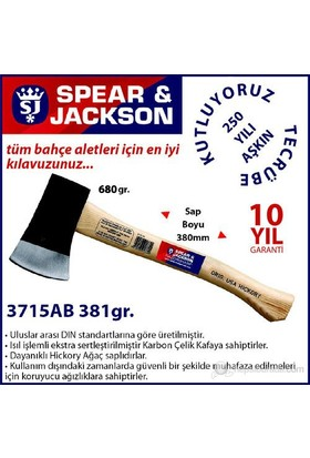 Spear And Jackson 3715Ab Ağaç Saplı Balta 680 Gr