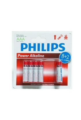 Philips Lr03p10bp/97 Aaa 8+2 İnce Alkaline Pil