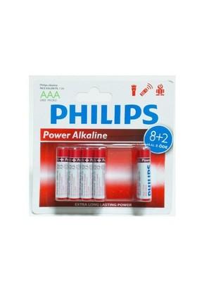 Philips Lr6p10bp/97 Alkalin Kalem Aa 8+2Li Pil