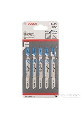 Bosch - Ekonomik Seri Metal İçin T 118 G Dekupaj Testeresi Bıçağı - 5'Li Paket
