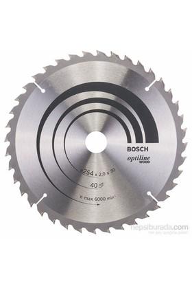 Bosch - Optiline Serisi Ahşap İçin Daire Testere Bıçağı - 254 X 30 X 2,0 Mm, 40 Diş