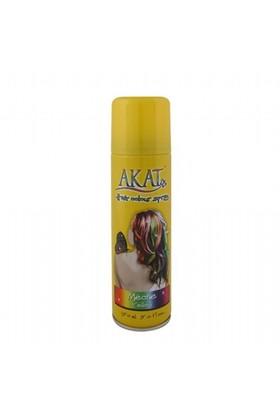 Akat Hair Color Renkli Saç Spreyi Sarı 150 Ml