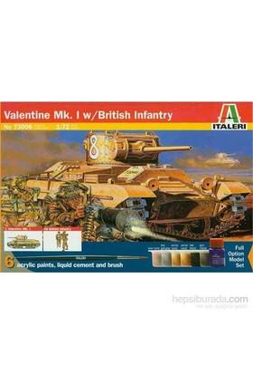 Valentine Mk.1 With British Infantry (Ölçek 1:72)