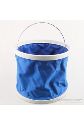 Buffer Su Sızdırmaz Kompakt Katlanabillir Kova Mavi